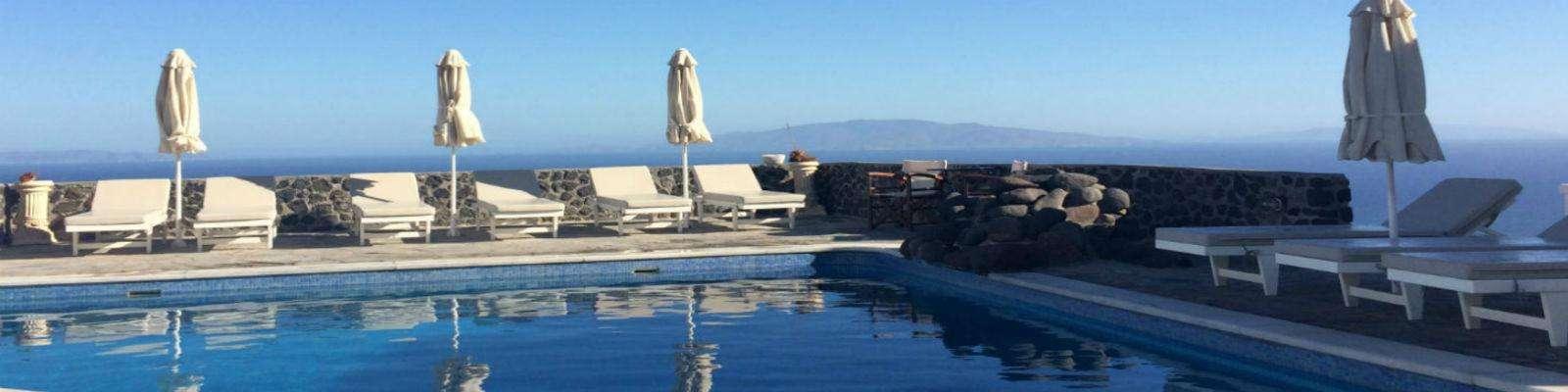 Auto huren Santorini zwembad
